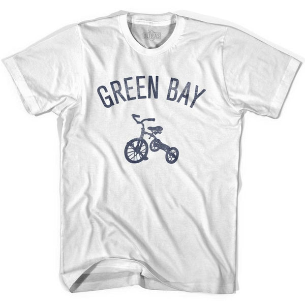 Green Bay City Tricycle Womens Cotton T-shirt - Tricycle City