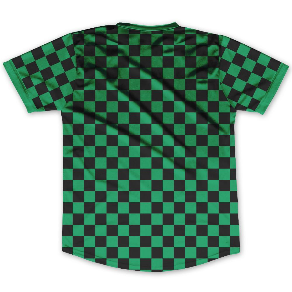 Kelly Green & Black Custom Checkerboard Soccer Jersey By Ultras