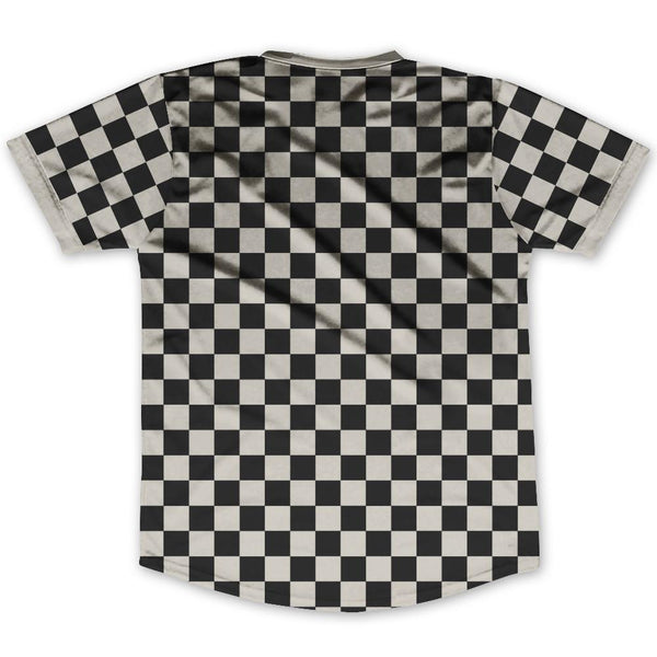 Grey Charcoal & Black Custom Checkerboard Soccer Jersey By Ultras