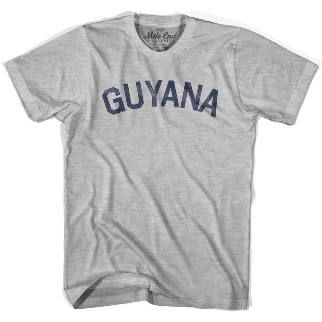 Guyana City Vintage T-shirt - Grey Heather / Youth X-Small - Mile End City