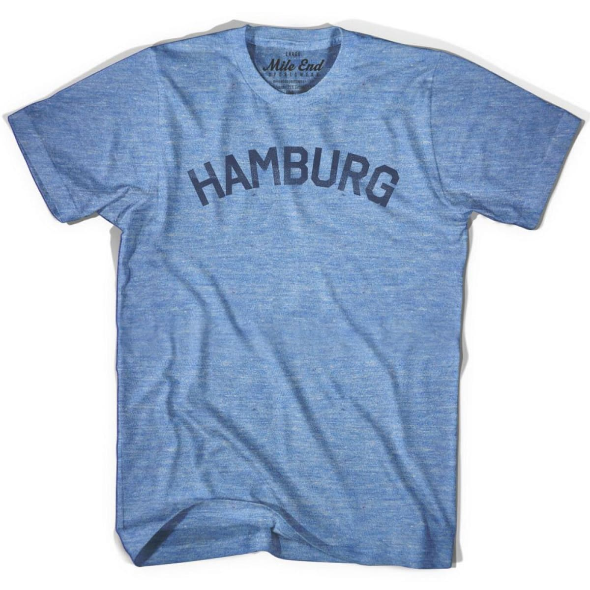 Hamburg City Vintage T-shirt - Athletic Blue / Adult X-Small - Mile End City