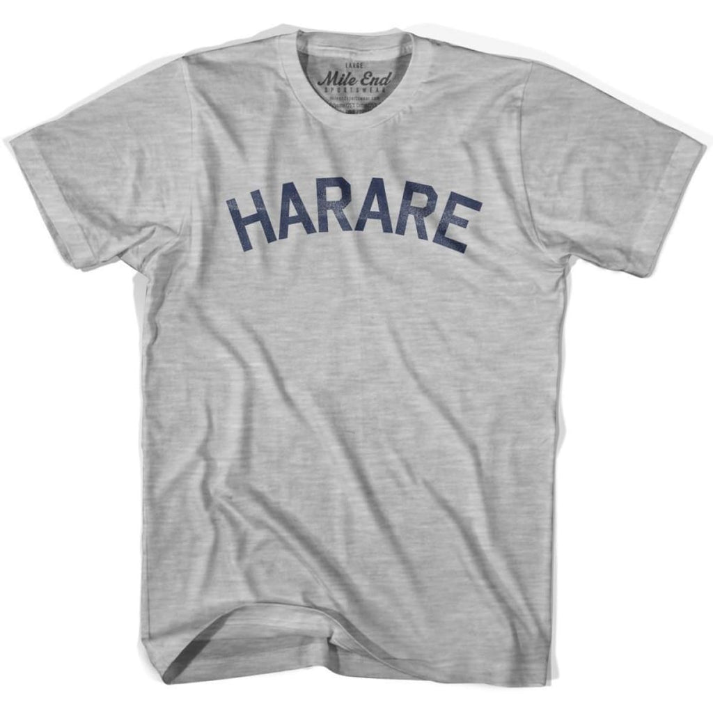 Harare City Vintage T-shirt - Grey Heather / Youth X-Small - Mile End City