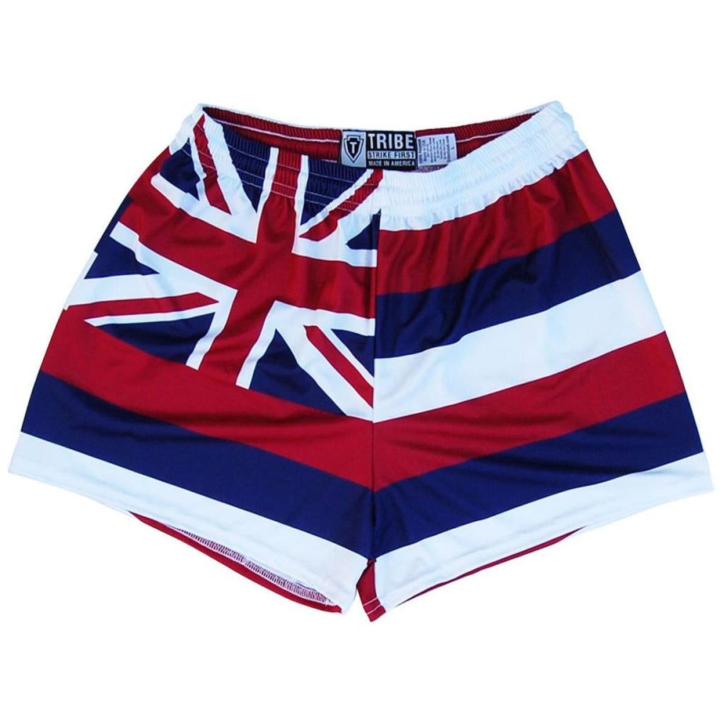 Hawaii Flag Womens & Girls Sport Shorts by Mile End - Red White Blue / Youth Small - Womens Sport Shorts