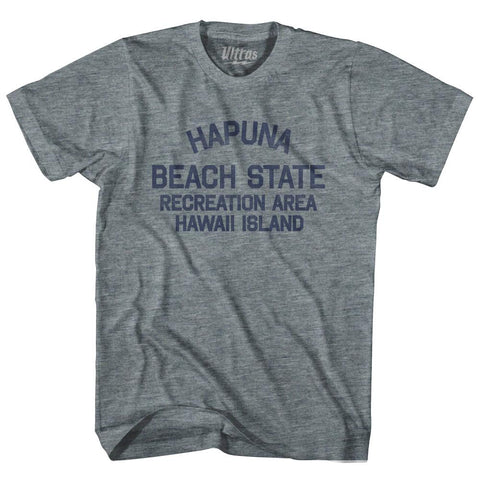 Hawaii Hapuna Beach State Recreation Area Hawaii Island Adult Tri-Blend Vintage T-shirt by Ultras