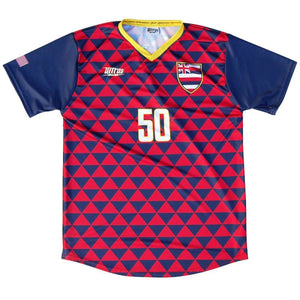 Hawaii State Cup Soccer Jersey - Red & Blue / Youth X-Small / No - Ultras State Cup Soccer Jerseys