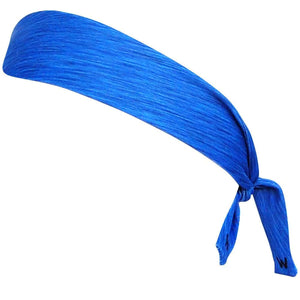 Heather Royal Elastic Tie Headband - Heather Royal / One Size - Wicked Headbands