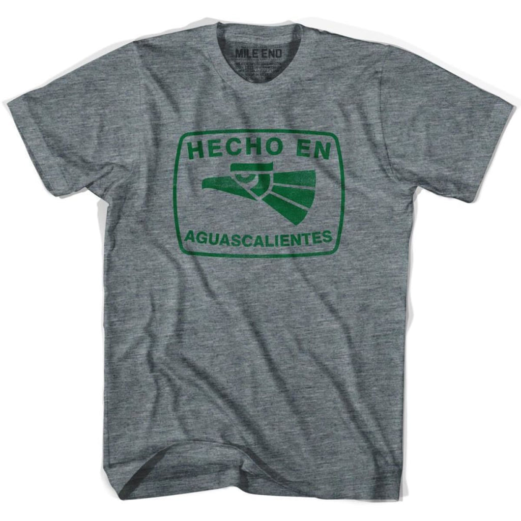 Hecho En Aguascalientes Vintage T-shirt - Athletic Grey / Youth X-Small - Hecho En