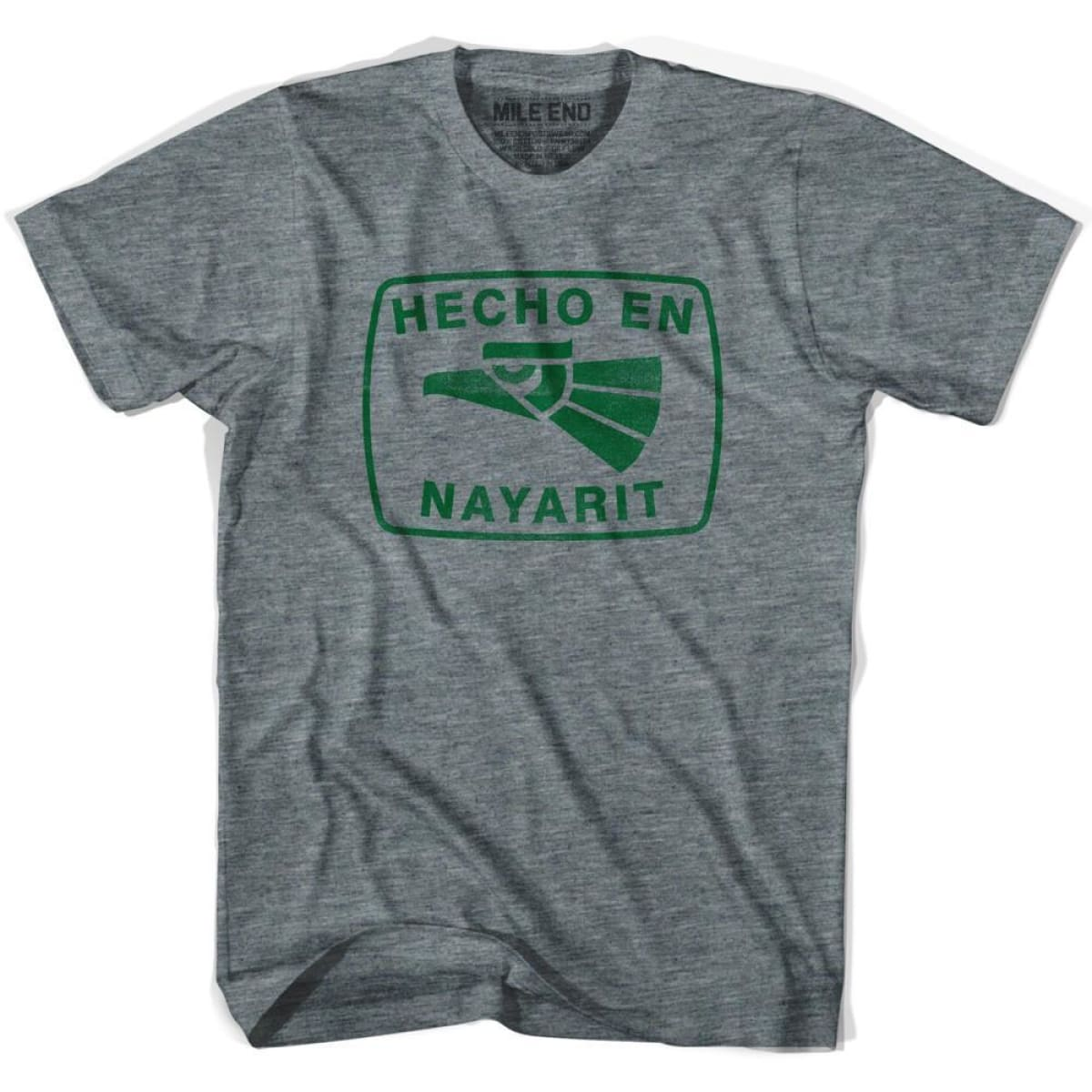 Hecho En Nayarit Vintage T-shirt - Athletic Grey / Youth X-Small - Hecho En