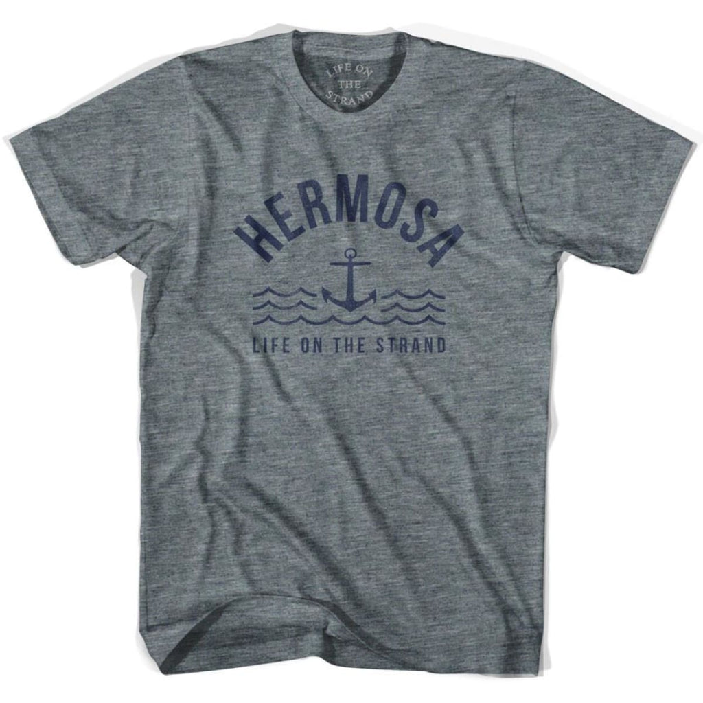 Hermosa Anchor Life on the Strand T-shirt - Athletic Grey / Youth X-Small - Life on the Strand Anchor