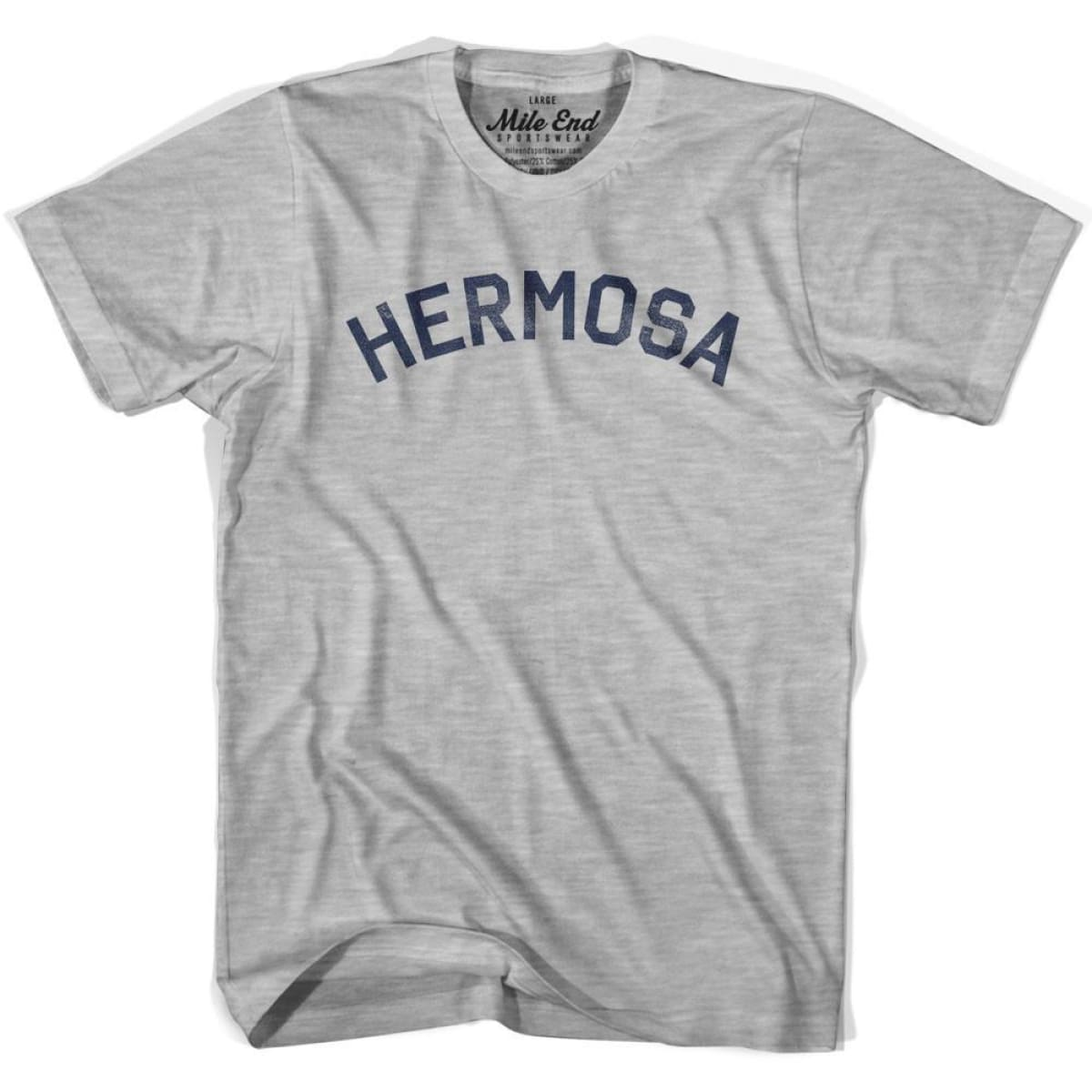 Hermosa City Vintage T-shirt - Grey Heather / Youth X-Small - Mile End City