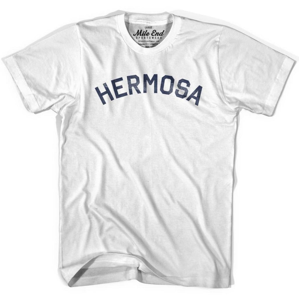 Hermosa City Vintage T-shirt - White / Youth X-Small - Mile End City