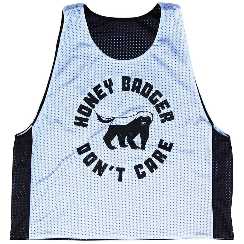 Honey Badger Dont Care Lacrosse Pinnie - Graphic Mesh Lacrosse Pinnies