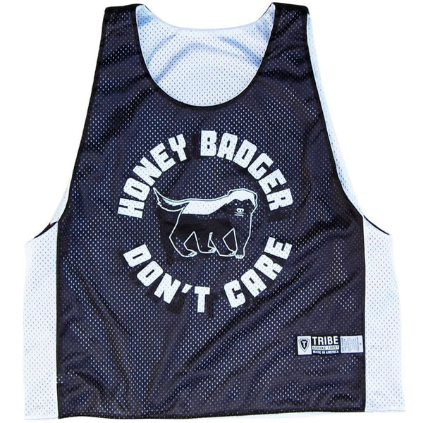 Honey Badger Dont Care Lacrosse Pinnie - Random / Adult X-Small - Graphic Mesh Lacrosse Pinnies