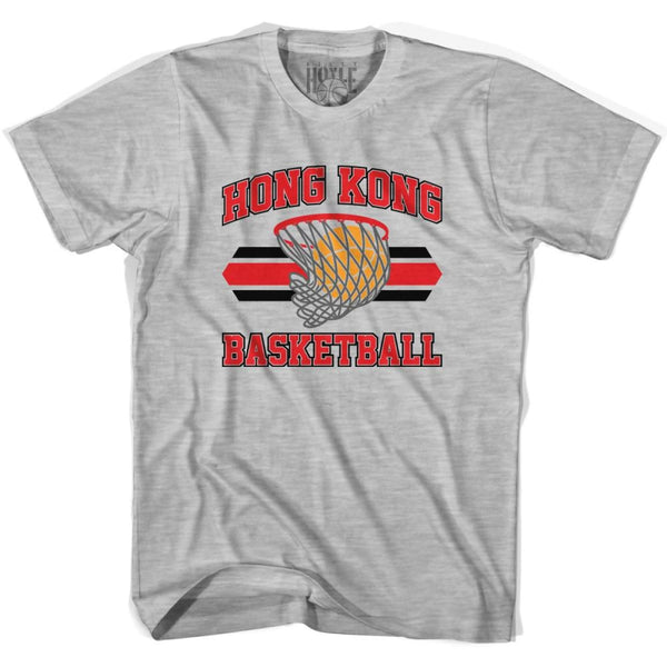 Hong Kong 90s Basketball T-shirts - Grey Heather / Youth X-Small - Basketball T-shirt