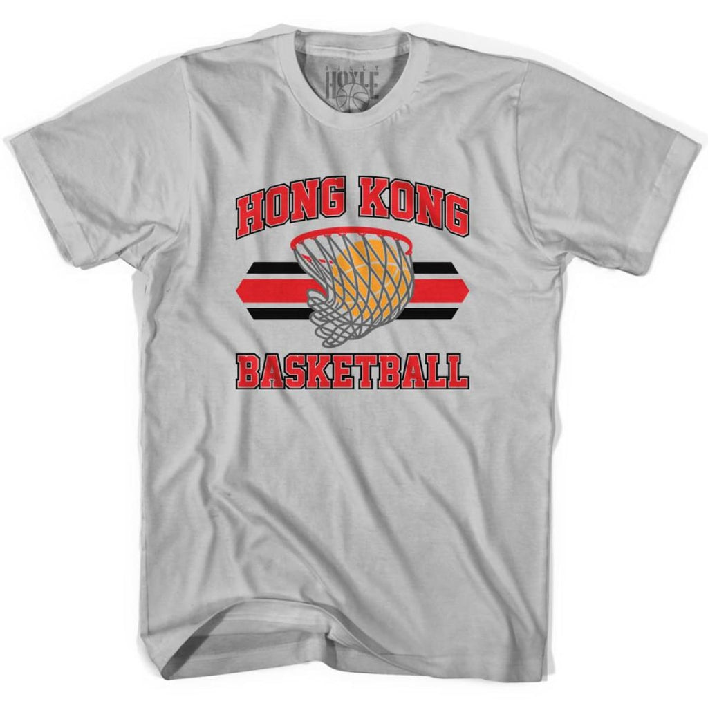 Hong Kong 90s Basketball T-shirts - Silver / Youth X-Small - Basketball T-shirt