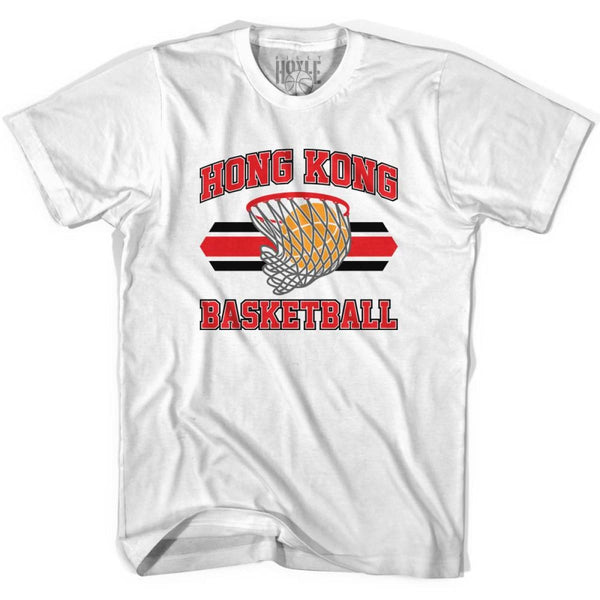 Hong Kong 90s Basketball T-shirts - White / Youth X-Small - Basketball T-shirt