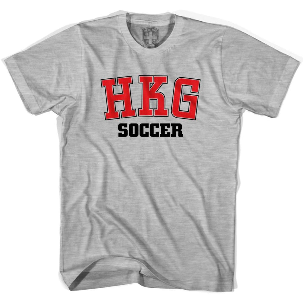 Hong Kong HKG Soccer Country Code T-shirt - Grey Heather / Youth X-Small - Ultras Soccer T-shirts