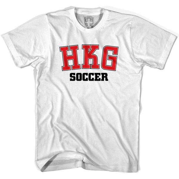 Hong Kong HKG Soccer Country Code T-shirt - White / Youth X-Small - Ultras Soccer T-shirts
