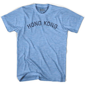 Hong Kong Vintage City Adult Tri-Blend T-shirt - Athletic Blue / Adult Small - Asian Vintage City