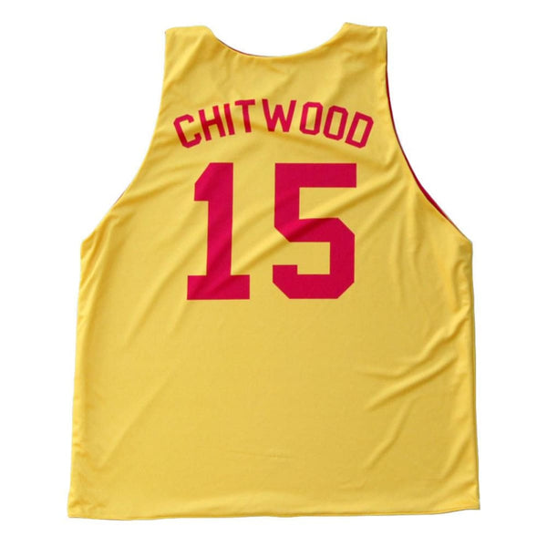 Hoosiers Hickory Chitwood #15 Basketball Reversible Jersey - Basketball Pinnie