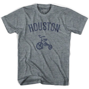 Houston City Tricycle Adult Tri-Blend V-neck Womens T-shirt - Tricycle City