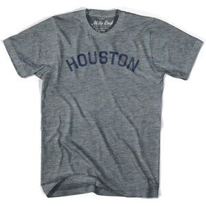 Houston City Vintage T-shirt - Athletic Grey / Adult X-Small - Mile End City
