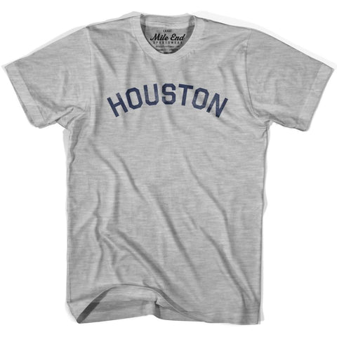 Houston City Vintage T-shirt - Grey Heather / Youth X-Small - Mile End City