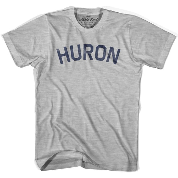 Huron City Vintage T-shirt - Grey Heather / Youth X-Small - Mile End City