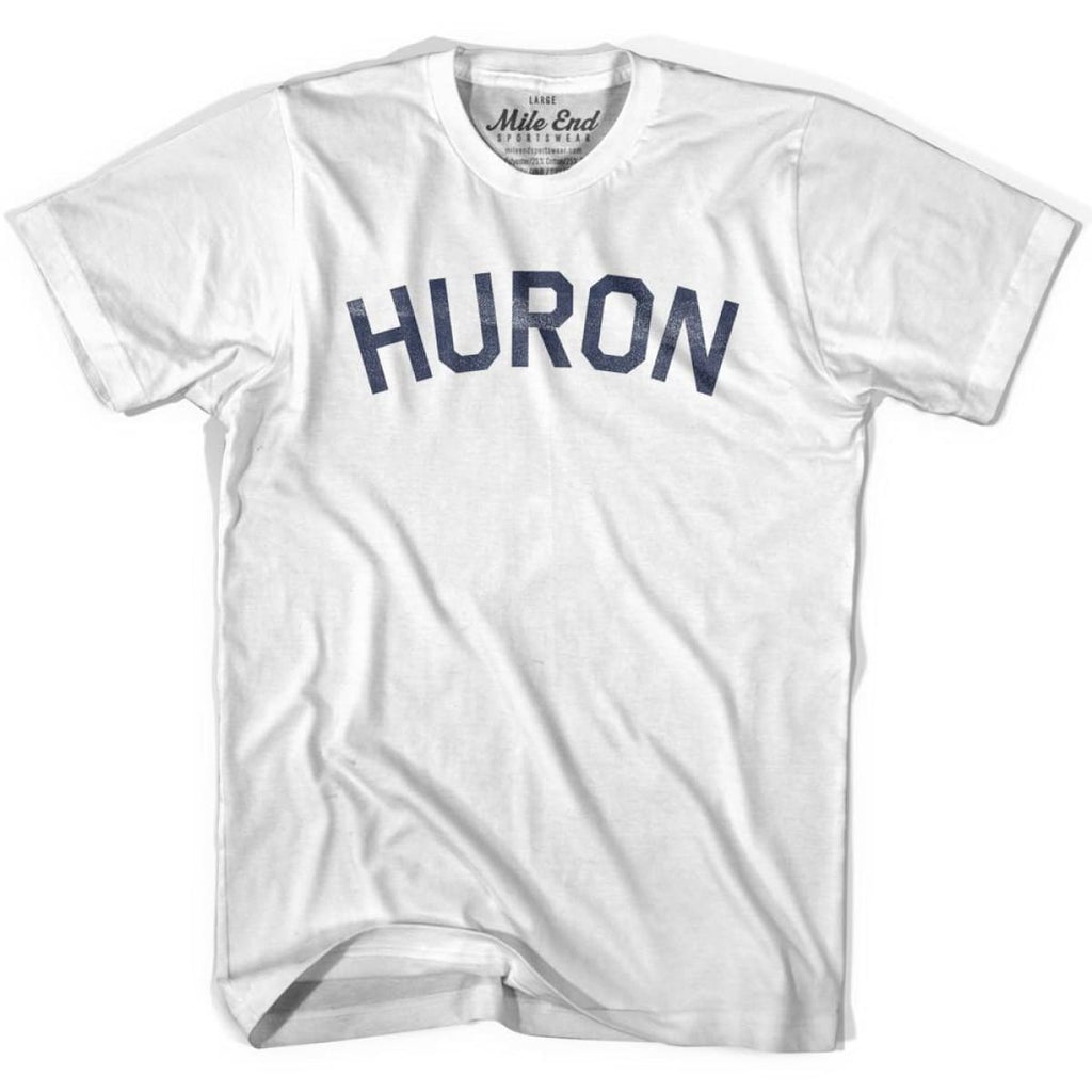 Huron City Vintage T-shirt - White / Youth X-Small - Mile End City