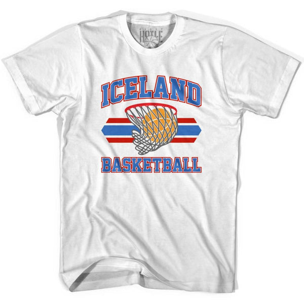 Iceland 90s Basketball T-shirts - White / Youth X-Small - Basketball T-shirt