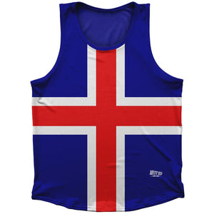 Iceland Country Flag Athletic Sport Tank Top Made In USA by Ultras