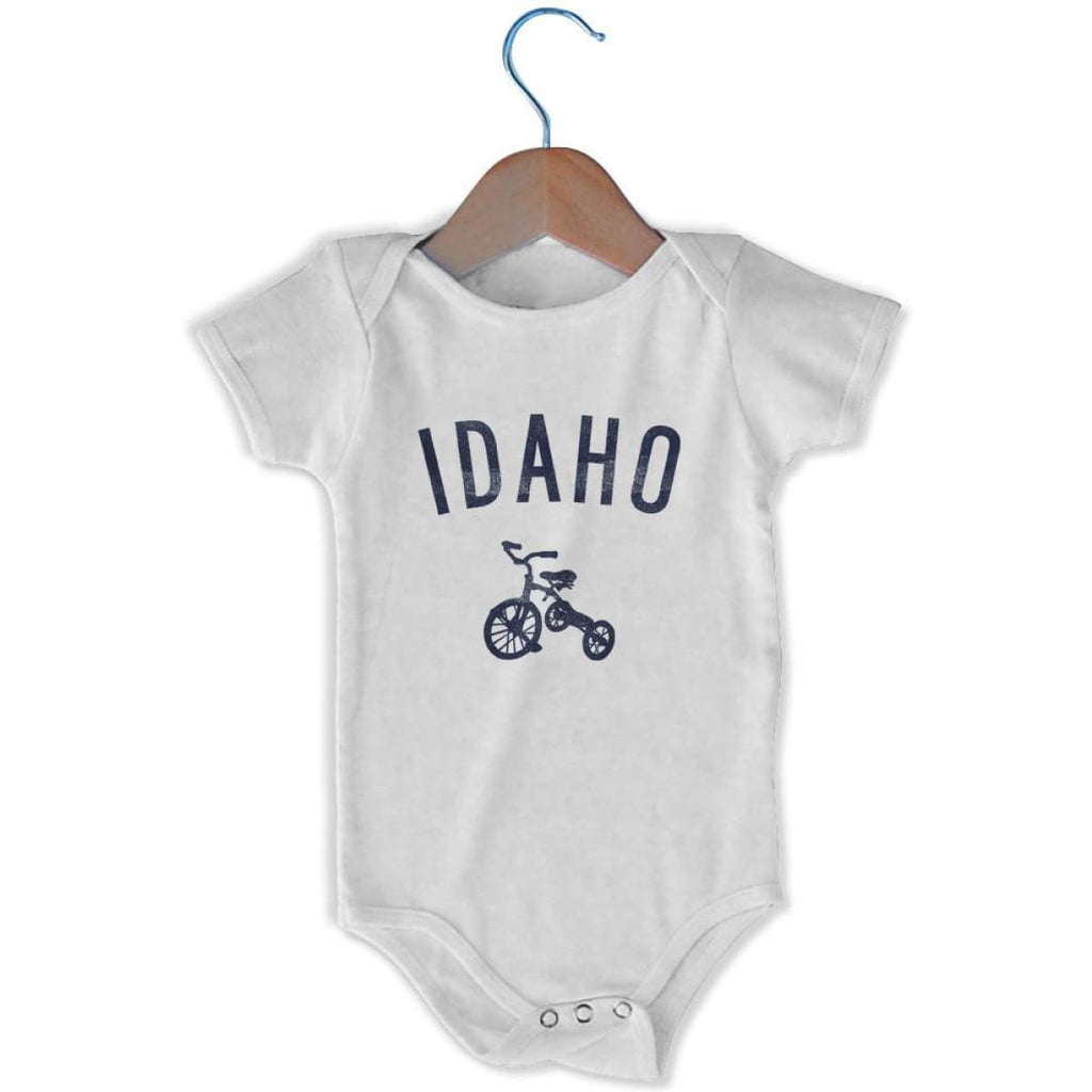 Idaho City Tricycle Infant Onesie - White / 6 - 9 Months - Mile End City