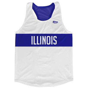 Illinois Finish Line Running Tank Top Racerback Track and Cross Country Singlet Jersey - White / Adult X-Small - Running Top