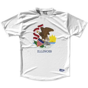 Ultras Illinois State Flag Running Cross Country Track Shirt Made In USA by Ultras