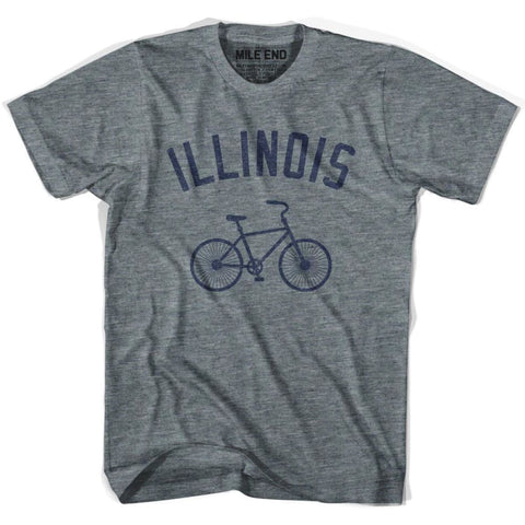 Illinois Vintage Bike T-shirt-Adult - Athletic Grey / Adult X-Small - Vintage Bike T-shirt