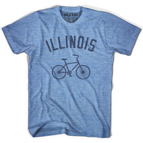 Illinois Vintage Bike T-shirt - Athletic Blue / Adult X-Small - Vintage Bike T-shirt