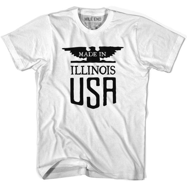 Illinois Vintage Eagle T-shirt - White / Youth X-Small - Made in Eagle