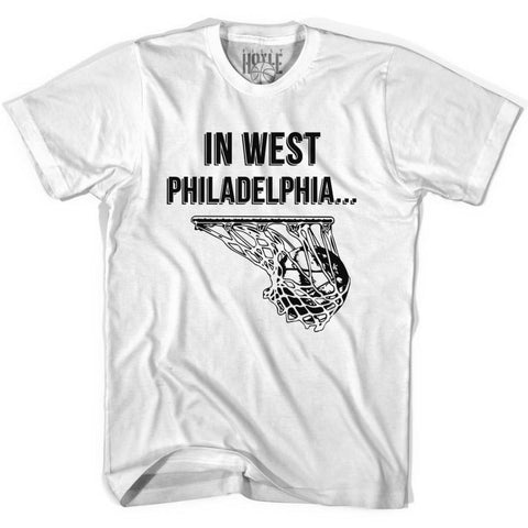 In West Philadelphia Basketball T-shirt T-shirt - White / Youth X-Small - Basketball T-shirt