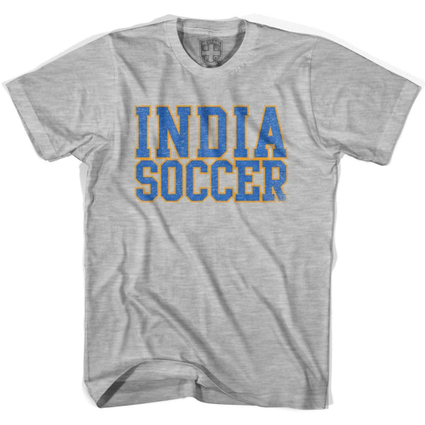 India Soccer Nations World Cup T-shirt - Grey Heather / Youth X-Small - Ultras Soccer T-shirts