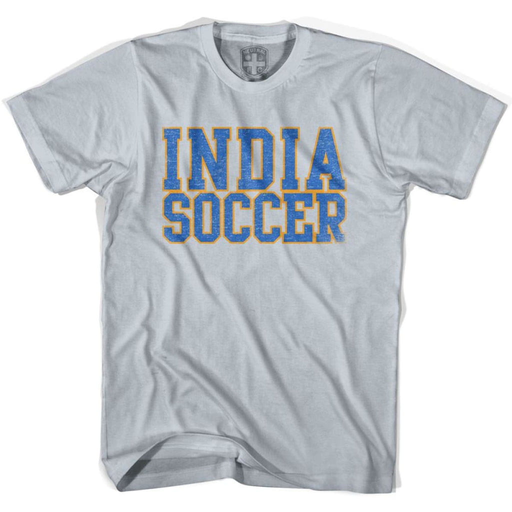 India Soccer Nations World Cup T-shirt - Silver / Youth X-Small - Ultras Soccer T-shirts