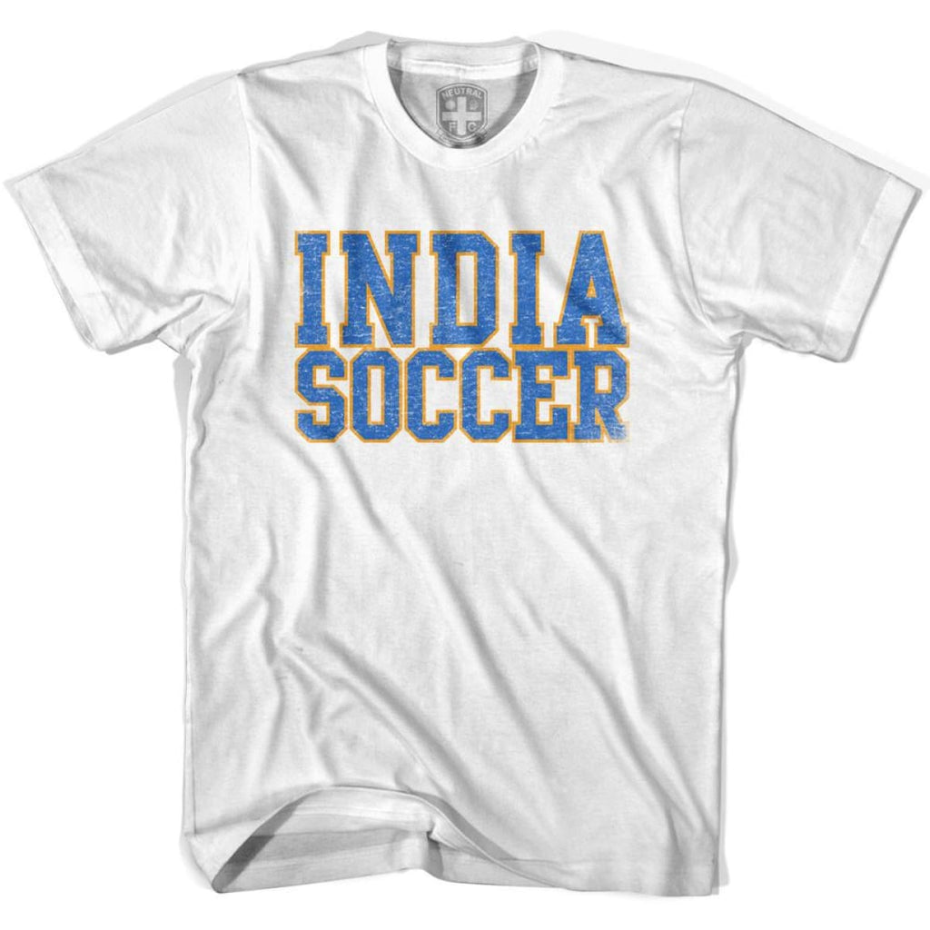 India Soccer Nations World Cup T-shirt - White / Youth X-Small - Ultras Soccer T-shirts