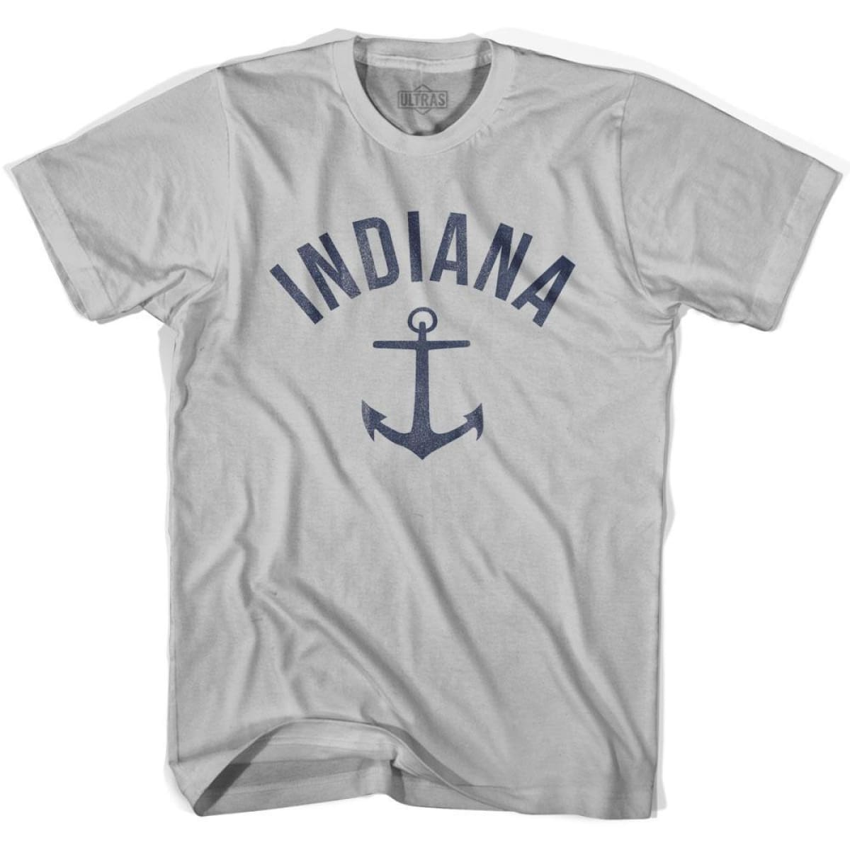 Indiana State Anchor Home Cotton Adult T-shirt - Cool Grey / Adult Small - Anchor Home