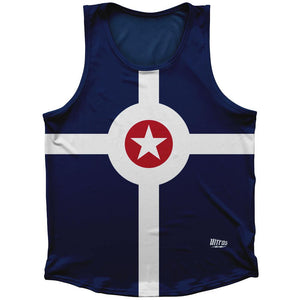 Indianapolis Flag Athletic Sport Tank Top Made In USA by Ultras