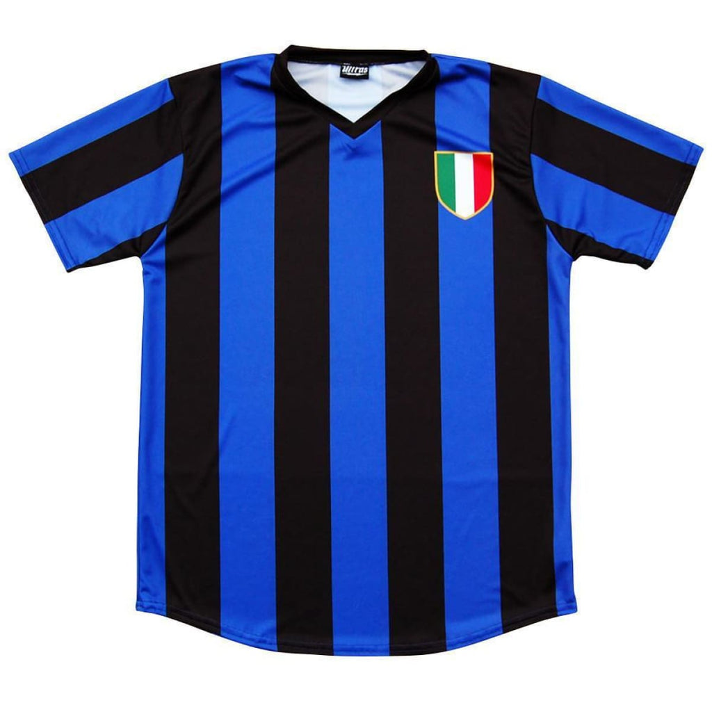Inter Milan Retro #10 Soccer Jersey - Royal and Black / Adult Small / No - Ultras City Soccer Jerseys
