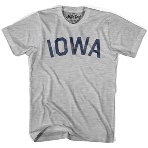 Iowa Union Vintage T-shirt - Grey Heather / Youth X-Small - Mile End City