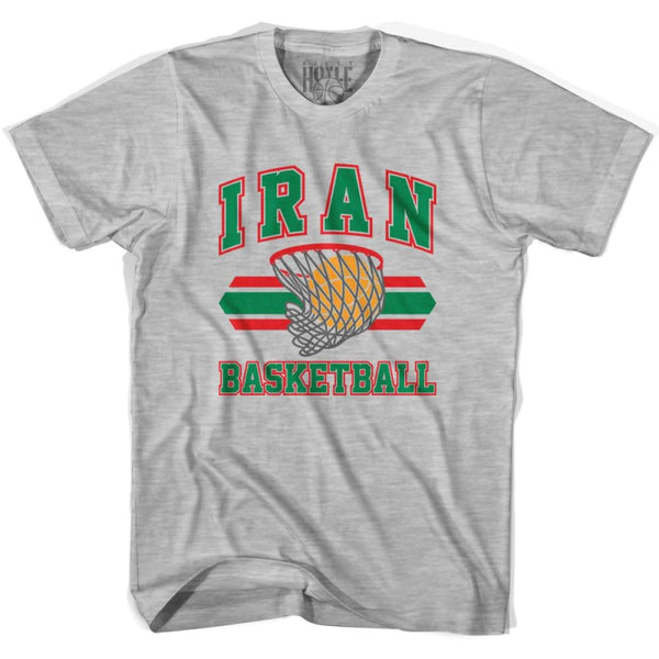 Iran 90s Basketball T-shirts - Grey Heather / Youth X-Small - Basketball T-shirt