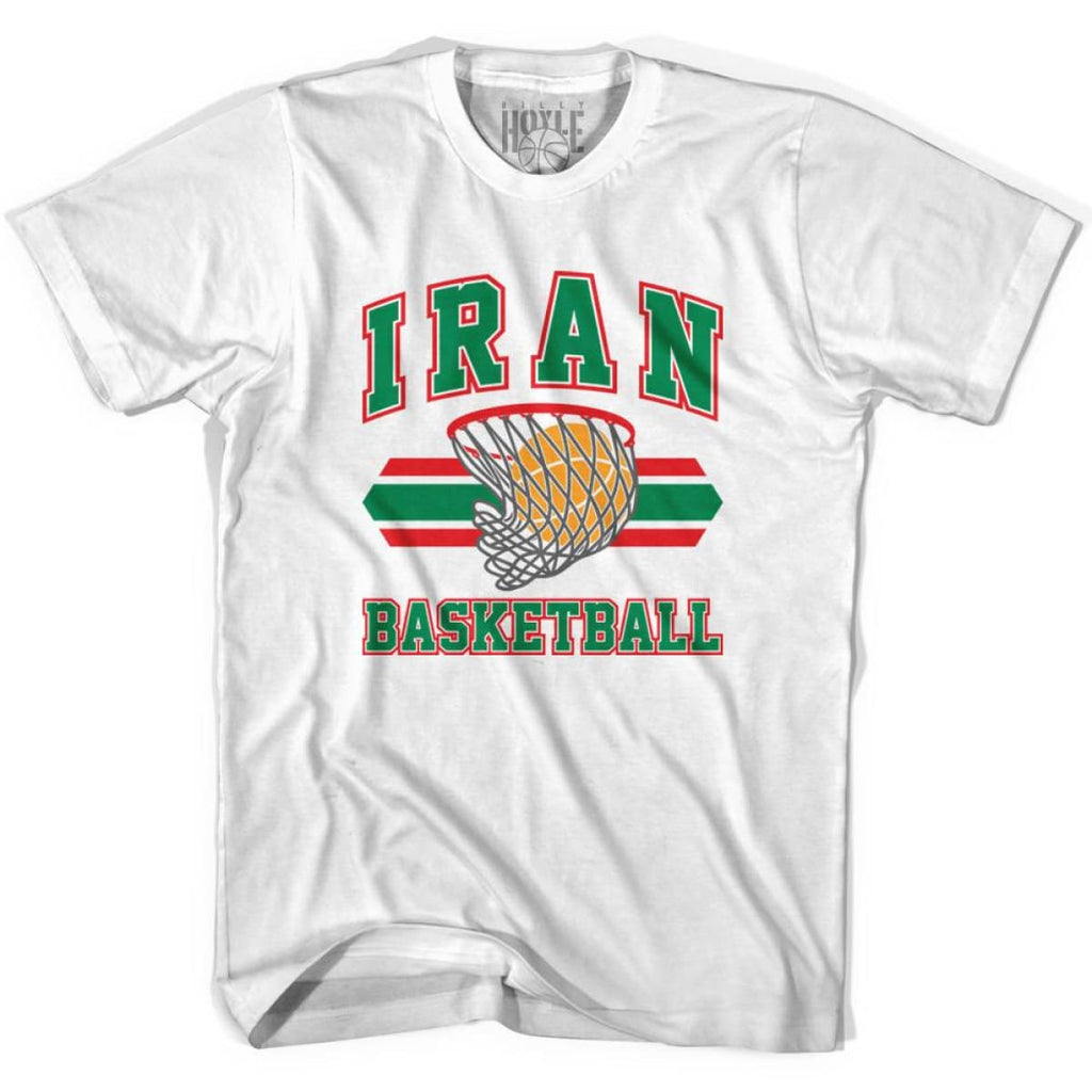 Iran 90s Basketball T-shirts - White / Youth X-Small - Basketball T-shirt