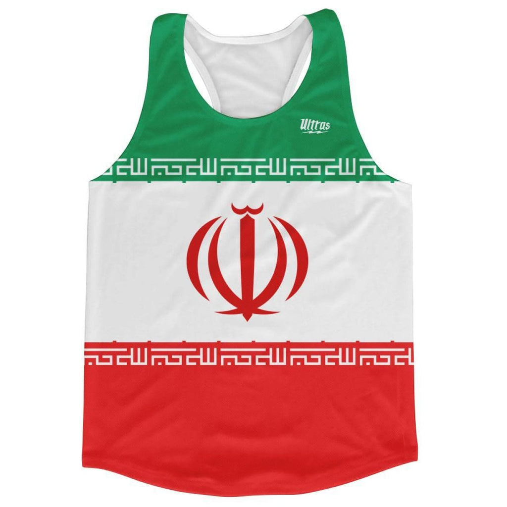 Ultras Iran Country Flag Running Tank Top Racerback Track And