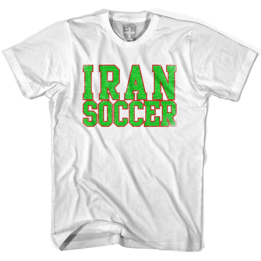 Iran Soccer Nations World Cup T-shirt - White / Youth X-Small - Ultras Soccer T-shirts