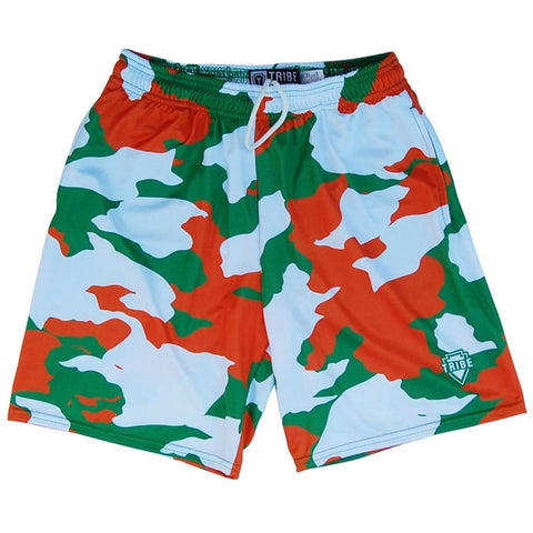 Ireland Flag Camo Lacrosse Shorts - Tribe Lacrosse Shorts